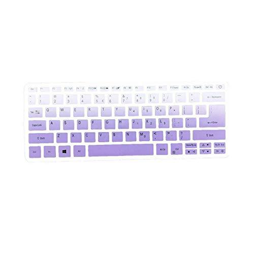 Keyboards 1 protector de teclado de silicona para Acer Swift / 3 1 Swift Sf114-32 Notebook I5 Sf314-54 14 8250U Sf3 C6E7-Gradient púrpura