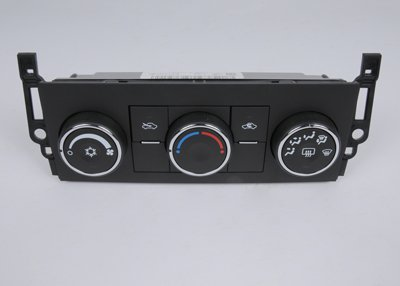 GM Genuine Parts 15-74000 Heating and Air Conditioning Control Panel with Rear Window Defogger Switch
