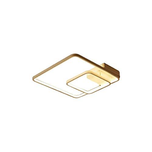 SPNEC Luz de Techo Cuadrado de la lámpara de Techo-Dormitorio de la lámpara Moderna Moda Comedor lámpara de Techo Minimalista Metal Acrílico Diseño del Anillo de Techo