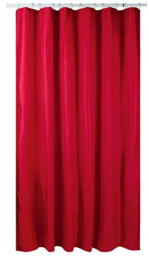 miomare Duschvorhang Rot mit 12 verstärkten Ösen & Befestigungsringen 180 x 200 cm