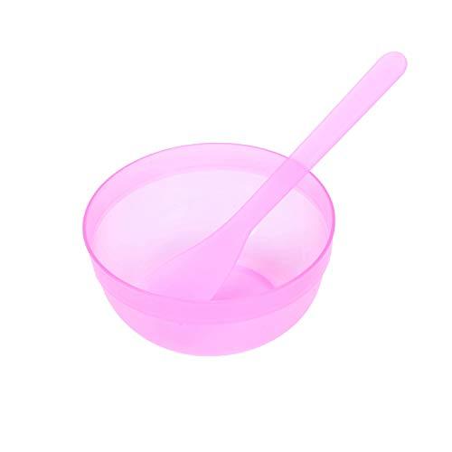 ACAMPTAR Outil de Tasse de Tasse de CosméTique en Plastique Rose de 4,1 Pouces de DiamèTre pour les Dames