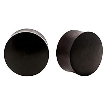 Monster Steel Pair | Areng Wood Double Flared Organic Plugs | 6g | 4mm
