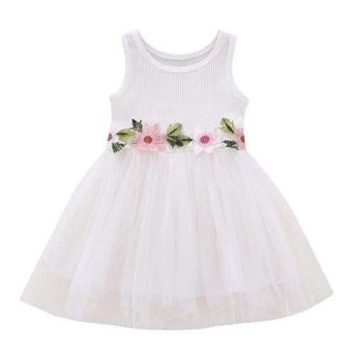 LEXUPE Kleinkind Baby Kind Mädchen Lange Ärmel gestrickt Bow Newborn Tutu Prinzessin Kleid 0-24M(Weiß,6)
