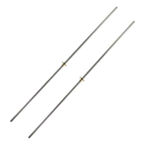 QWORK 2 Pack T8 600mm Lead Screw and Brass Nut (Acme Thread, 4 Starts, 2mm Pitch, 8mm Lead) Used in 3D Printer