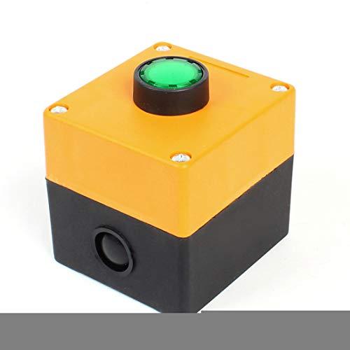 Aexit Grüne AC 220V Kontrollleuchte SPST Momentary Push Button Switch w Box (68e738c56db38662f2e93beed01854e2)