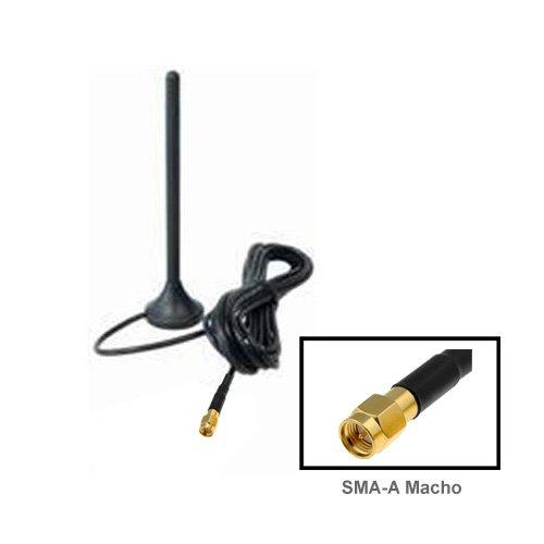Antena de TDT (televisión digital terrestre) con conector SMA y base imantada