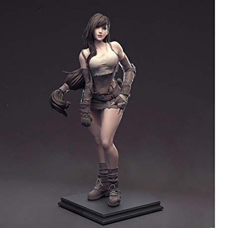 MizzZee Kunstharz-Figuren-Set 1/6 Final Fantasy VII Tifa unlackierte Garagen-Modellbausatz aus Kunstharz, 15 cm