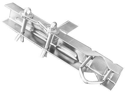 Metronic 450895 Fixation toit et cheminee Cerclage double zingue blc pour mat D25 a 50mm L 345mm lunite