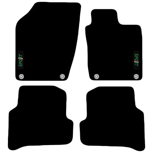 Carsio Auto-Fußmatten für Skoda Fabia ab 2015, 4 Clips