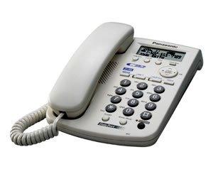 Panasonic KX-TSC14W 2-Line Corded Speakerphone with Caller ID (White)