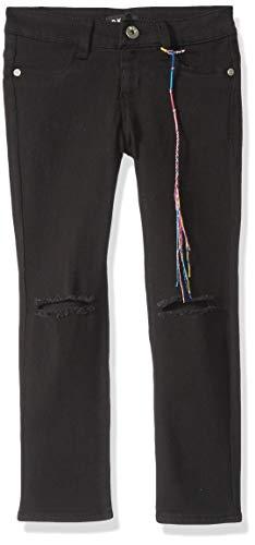 DKNY Girls' Big Jegging, A Knee Slit Black, 8