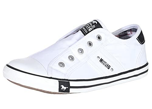 MUSTANG Shoes Damen Schuhe Slipper Low-Top Halbschuhe Full White 41