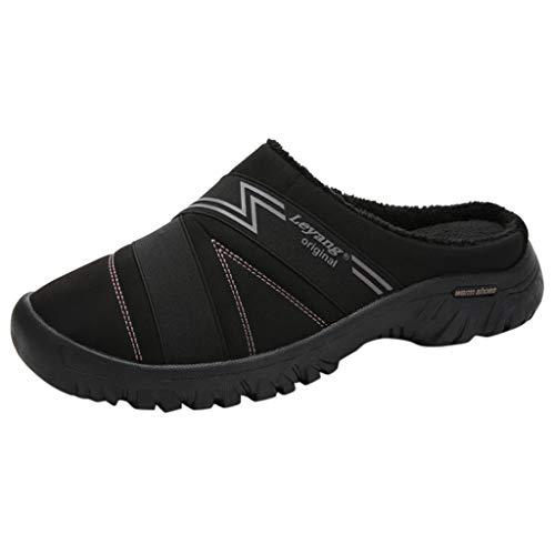 HDUFGJ Herren Damen Baumwoll Hausschuhe Winter Plus Samt Pantoffeln Bequem Wärme Halten House Schuhe