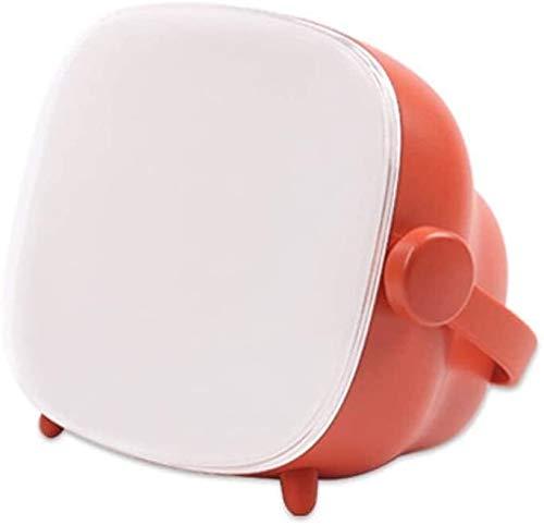 Lqp-taiden El tiempo lámpara de mesa, intensidad ajustable, creativo simple de televisión Reloj ligero, portátil LED sin escalonamiento Atenuación pantalla grande de despertador claro Sin luz azul no