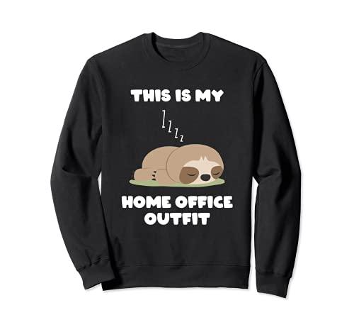 Home Office - Camiseta de perezoso regalo para hombres Sudadera