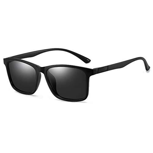 KEECOW Polarisierte Sonnenbrille Herren Damen UV400 Schutz Ultra Leicht Sport Sonnenbrille im Freien Golf Radfahren Angeln Wandern (Schwarz)