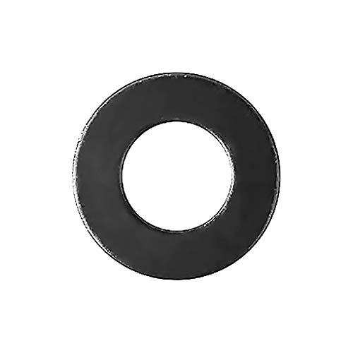 304 roestvrij stalen schroef verbinding Dichte platte ronde schijf Plat rond ring lekvrije schroef accessoire, zwart, 684Pcs
