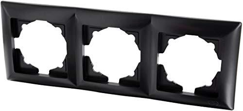 Marco triple (serie G1), color negro.