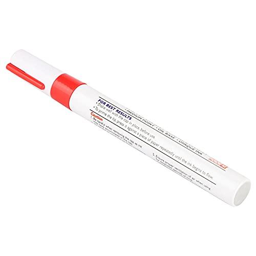 Bolígrafo de Pintura para Neumáticos de Coche, Yctze 1 Pieza Impermeable Profesional Lápiz de Pintura para Neumáticos para la Mayoría de los Coches Camiones SUV(rojo)