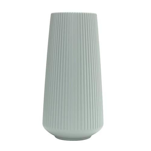 1 Stück moderne Blumenvase im schlichten Stil, tragbare Kunststoff-Dekoration Vase, ideal für Wohnzimmer, Küche, Tisch, Zuhause, Büro, Hochzeit