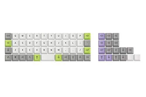 Drop + OLKB Planck Acute Keycaps — Kompakter Ortholinearer Formfaktor, PBT Dye-subliminierte Tastenkappen im OEM-Profil, für Cherry MX Switches und Clones (Acute Keycaps)