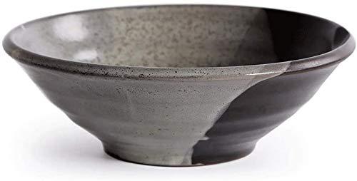 KS Vajilla Creativa Tazón de Sopa de cerámica Tazón de Fideos Grande Tazón de cerámica japonés Tazón de gres Tazón de Ensalada para el hogar Tazón de Pasta Tazón Grande