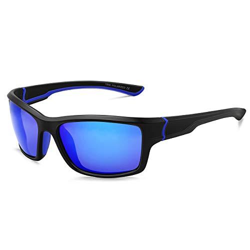 MAXJULI maxjuli Polarisierte Sportbrille Sonnenbrille Herren Damen zum Laufen Angeln Fahren MJ8014