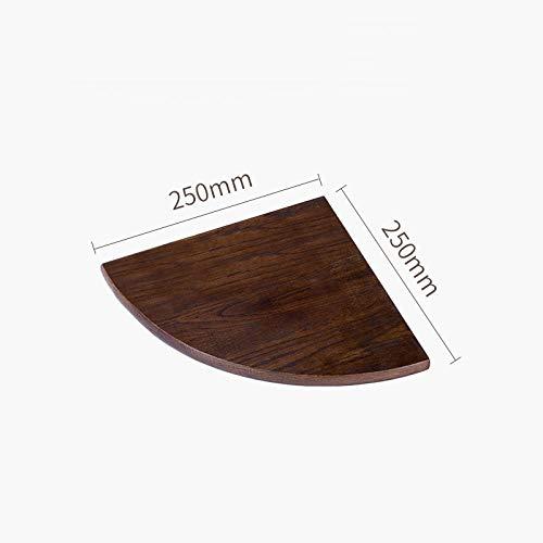 Drijvende Planken,Houten Decoratief,Picture Ledge Display Rack,Boek Hangende Plank,Verschillende Maten Plank Set,Bevestigingen Inclusief Metalen Beugels,Waaiervormig Hoekrek-Walnoot 250 * 250 * 35 Mm