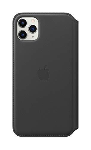 iPhone11ProMaxレザーフォリオ-ブラック