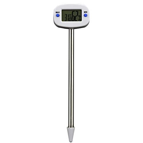 LNIMIKIY Bodemtester, Tuin LCD Monitor Digitale Gazon PH Bodemmeter Thermometer Vochtigheid Tester Tool Planten Graan Bloemen Gras Zorg 44 * 30 * 30mm als afbeelding tonen