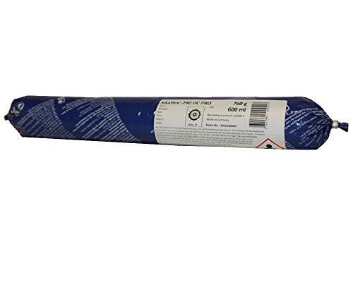 Sikaflex 290 DC Pro witterungsbeständiger,  uv - stabiler Dichtstoff Dichtmasse für Stabdecksfugen Teak schwarz 600ml
