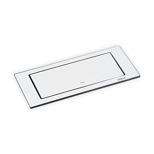 EVOline BackFlip, 180° drehbar, matt weiß lackiert, 2-fach Steckdose + 1 USB-Charger