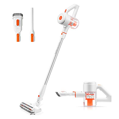 ILIFE EASINE G50 Cordless Stick Vacuum Cleaner, Carpet Vacuum Cleaner, LED Light, 35mins Runtime, 4 Stage Cyclone Filtration, Special Side Brush Design to Clean All Corners