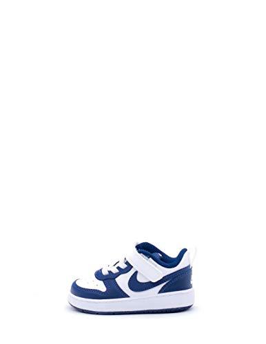 Nike Court Borough BQ5453107 - Scarpe sportive da bambino, colore: Bianco, (White Blue Void Sign), 17 EU