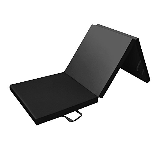 Tri Folding 180 cm Gymnastics & Exercise Mat for Home Gym, 180cm (6ft) Long, 60cm (2ft) Large, 5cm (2in) Thick - Tapis de Sol Pour Exercices, Fitness et Gymnastique