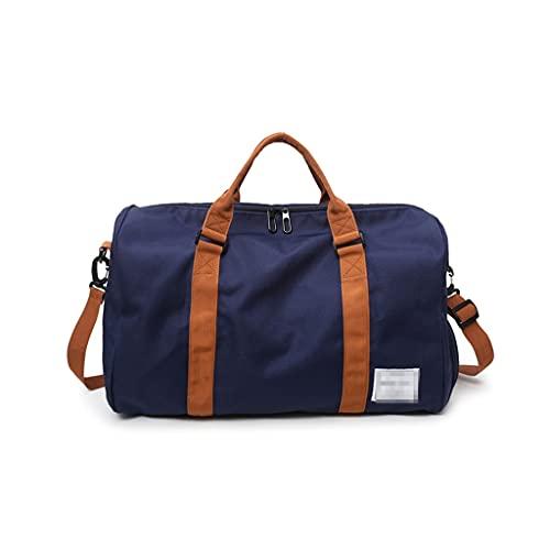 ZHONGTAI Bolsa de Lona Extra Grande Ligero Peso de la Noche Bolsa de Weekender Oxford Paño Bolsa de Deportes para la Escuela de Negocios Hotel Semankway (Color : Blue)