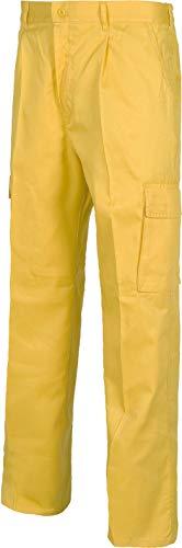Work Team Pantalón. Elástico en cintura, multibolsillos: dos bolsos laterales en perneras. HOMBRE Amarillo 40