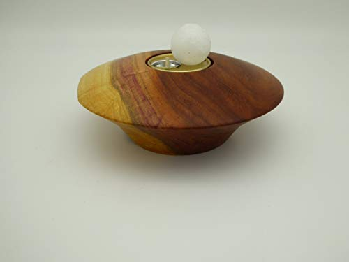 Kerzenhalter Kerze Teelichthalter handgedrechselt aus Pflaumenholz, Pflaume, Holz mit Wachskugeln