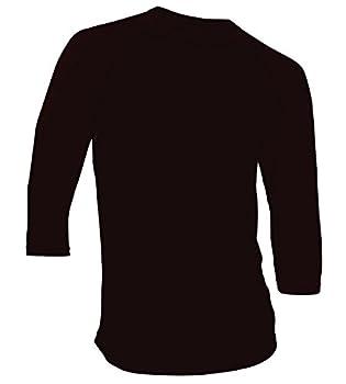 DREAM USA Men s Casual 3/4 Sleeve Baseball Tshirt Raglan Jersey Shirt Black/Black XL