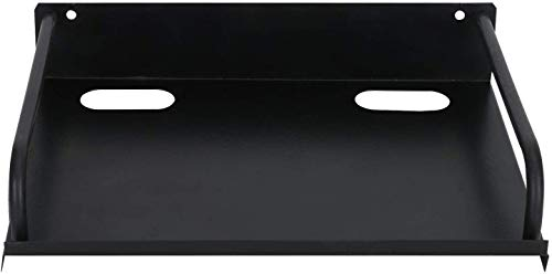 PROSAC Super Quality Dish tv Stand- Wall Mount Stand/WiFi Router Stand, Color : Black (Ideal for All Type of Set Top Box)