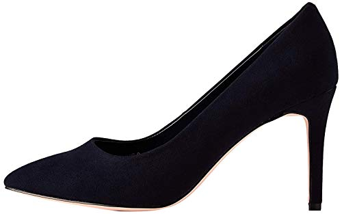 find. Wide Fit Point Court Shoe Zapatos de tacón con Punta Cerrada, Azul Navy, 36 EU