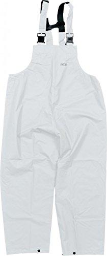 Ocean Rainwear Damen Herren Regenlatzhose Comfort Heavy Segelhose, Farbe:weiß, Größe:M