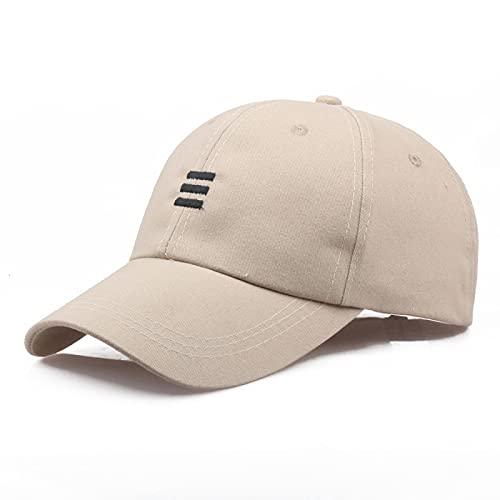 ZSQQ Verano Unisex Hombres Mujeres Gorra De Béisbol Sombreros Hip-Hop Algodón Ajustable Color Sólido Gorras Sombreros para Hombres Mujeres Accesorios Al Aire Libre Beige