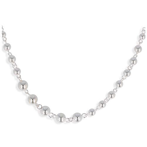 Les Trésors de Lily [Q2857 - Collar Plata 'Billes' ábaco - 45 cm, 5 a 8 mm.