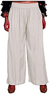 Style ICON Women's Rayon Narrow Bottom Palazzo Trousers Having Pockets on Both Side, Plain Colour with Elastic Waist - Multi Colour