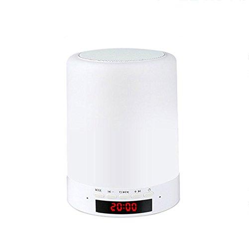 Veilleuse ZQ Creative Coloré Bluetooth Audio Lumière Smart Touch Dimmer Dimmable LED Lampe de Bureau Chambre Chevet Lampe