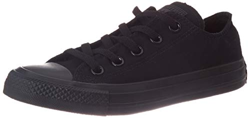 Converse Chuck Taylor All Star Low Top, Black Monochrome, 9 Women/7 Men