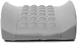 Car Back Lumbar Posture Support Electrical Massage Cushion Pillow- LIGHT GREY