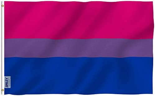 Anley Fly Breeze 3x5 Foot Bi Pride Flag - Vivid Color and Fade Proof - Canvas Header and Double Stitched - Bisexual Flags Polyester with Brass Grommets 3 X 5 Ft