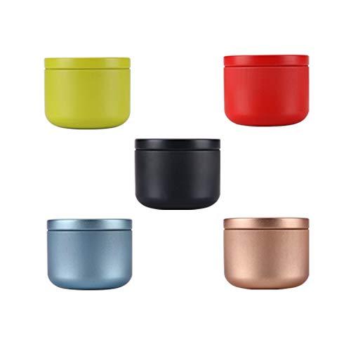 maxgoods 5 Pezzi Mini Contenitori in Metallo per tè e Zucchero, Lattine per caffè, Lattine Sigillate con Coperchi Ermetici per tè Sfuso, Spezia, Chicco di caffè, Zucchero